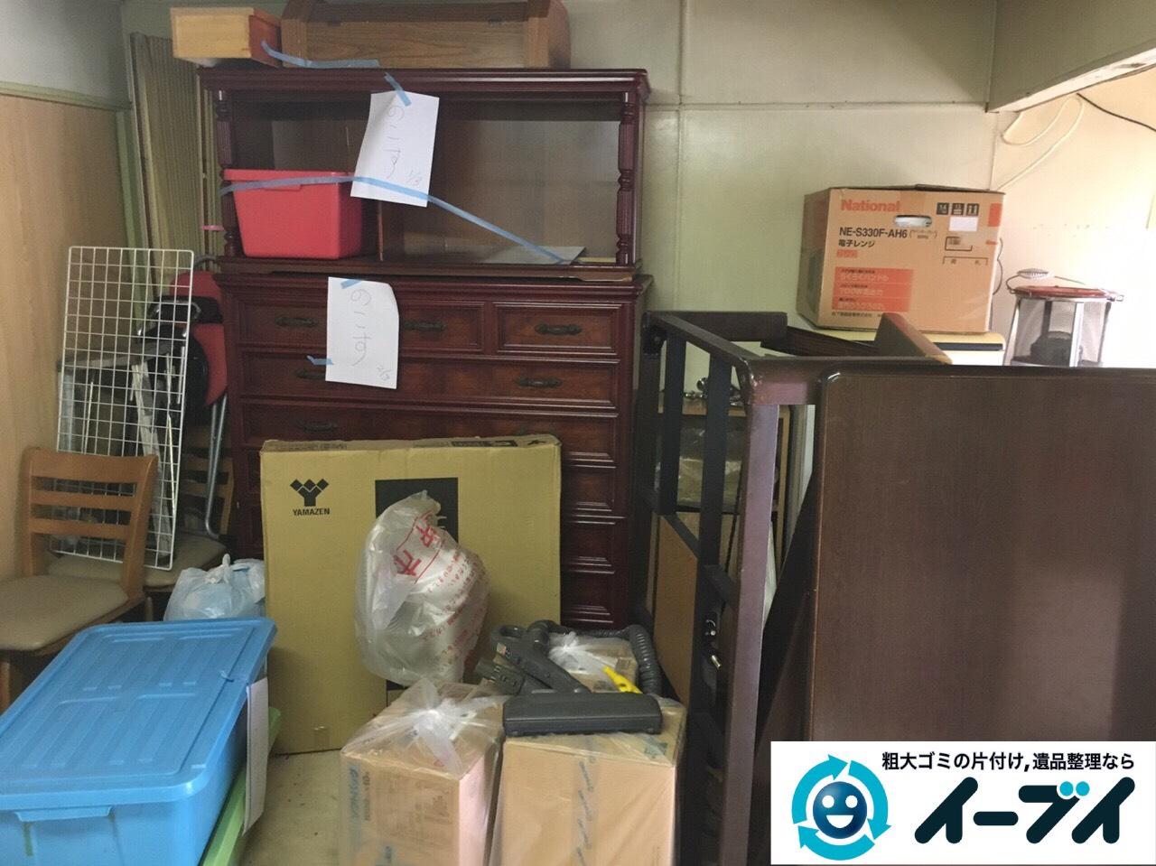 茨木市で倉庫の家具や廃品などの粗大ゴミを片付け引き取りしました