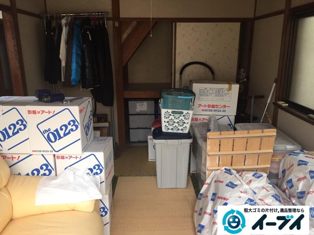 8月31日 羽曳野市で部屋の片付けに伴う家具処分や粗大ゴミの不用品回収をしました。写真1