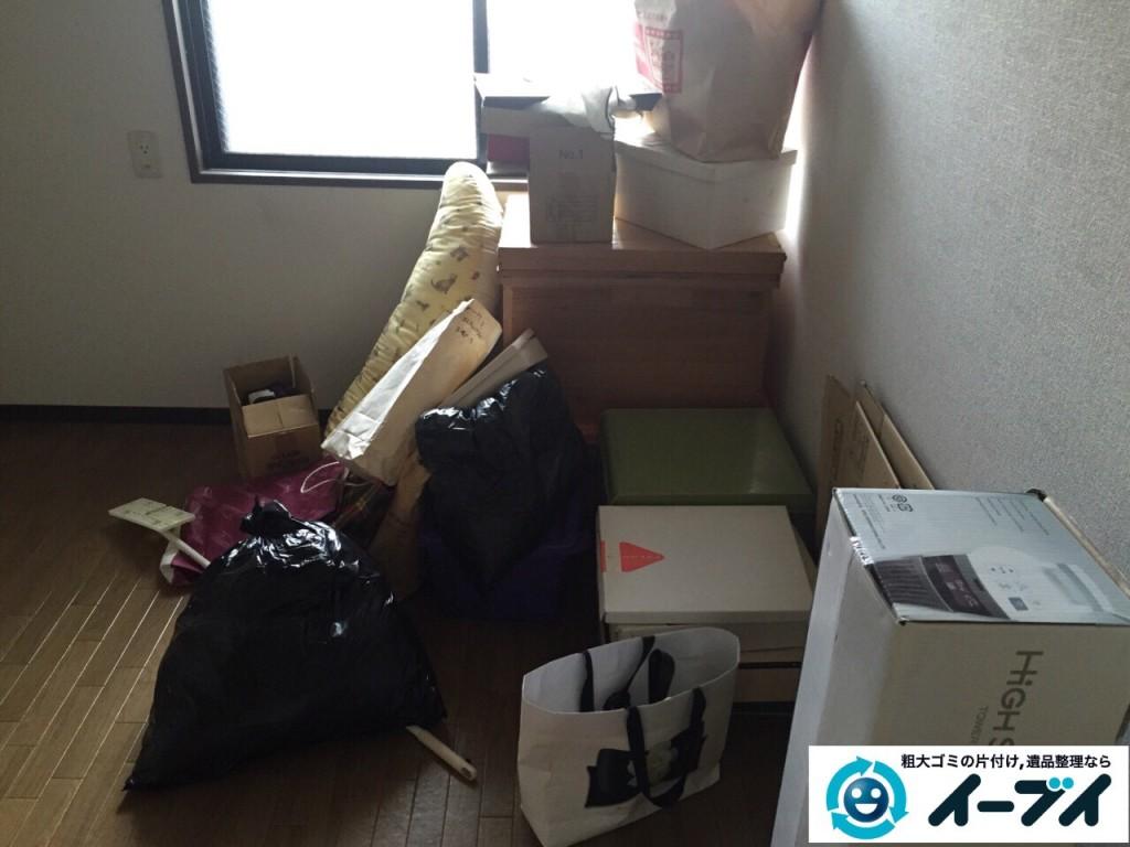 8月31日 堺市東区で部屋の片付けに伴う粗大ゴミや廃品の不用品回収をしました。写真3
