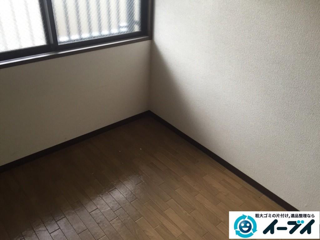 8月31日 堺市東区で部屋の片付けに伴う粗大ゴミや廃品の不用品回収をしました。写真2