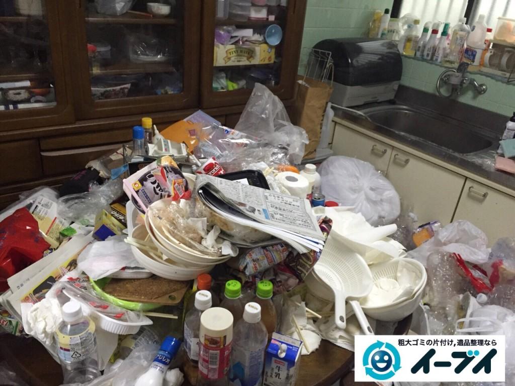 9月16日 大阪府大阪市城東区でゴミ屋敷状態の汚部屋の片付けをしました。写真5
