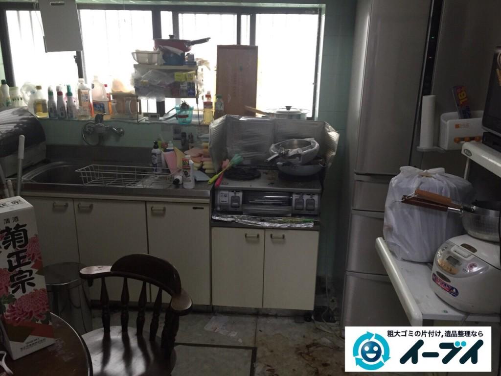9月16日 大阪府大阪市城東区でゴミ屋敷状態の汚部屋の片付けをしました。写真4
