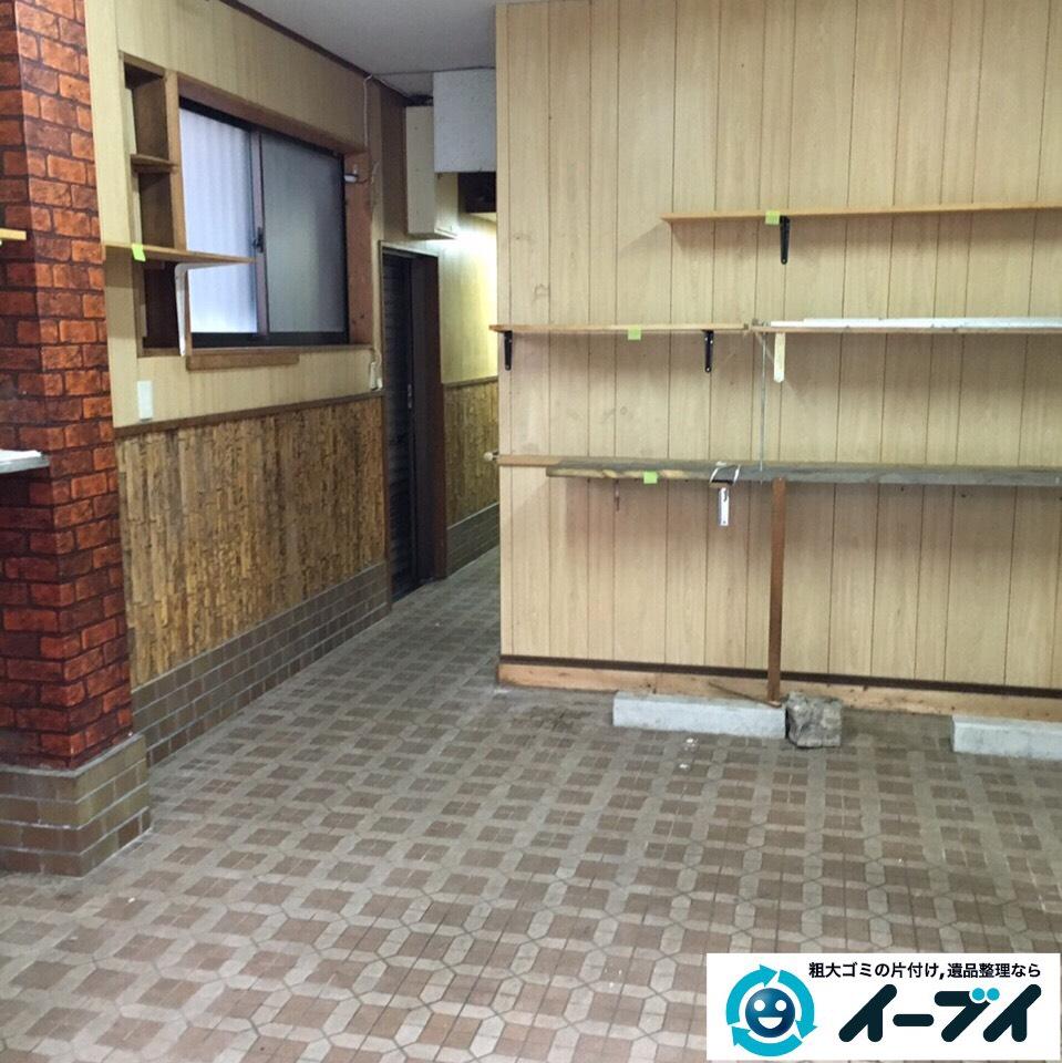 9月1日 大阪府岸和田市で店舗倉庫に伴う廃品や粗大ゴミの引き取りの不用品回収。写真2