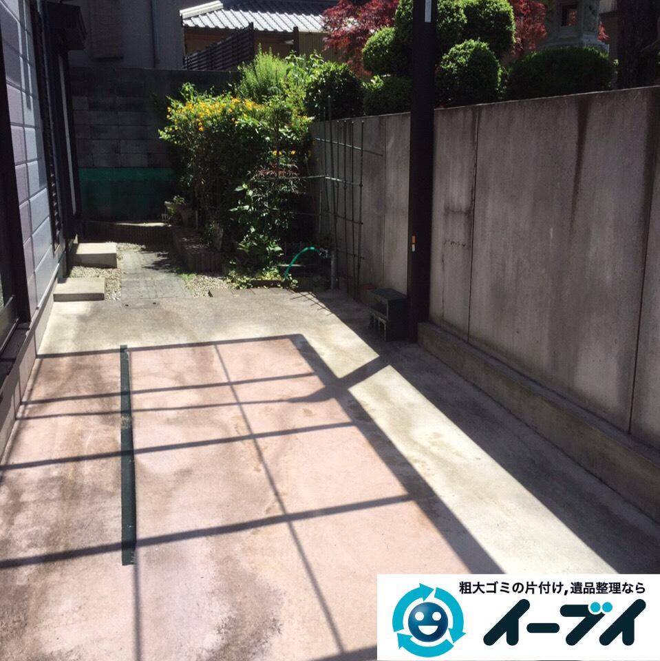 9月1日 大阪府交野市でガレージの粗大ゴミや廃品の不用品回収をしました。写真2