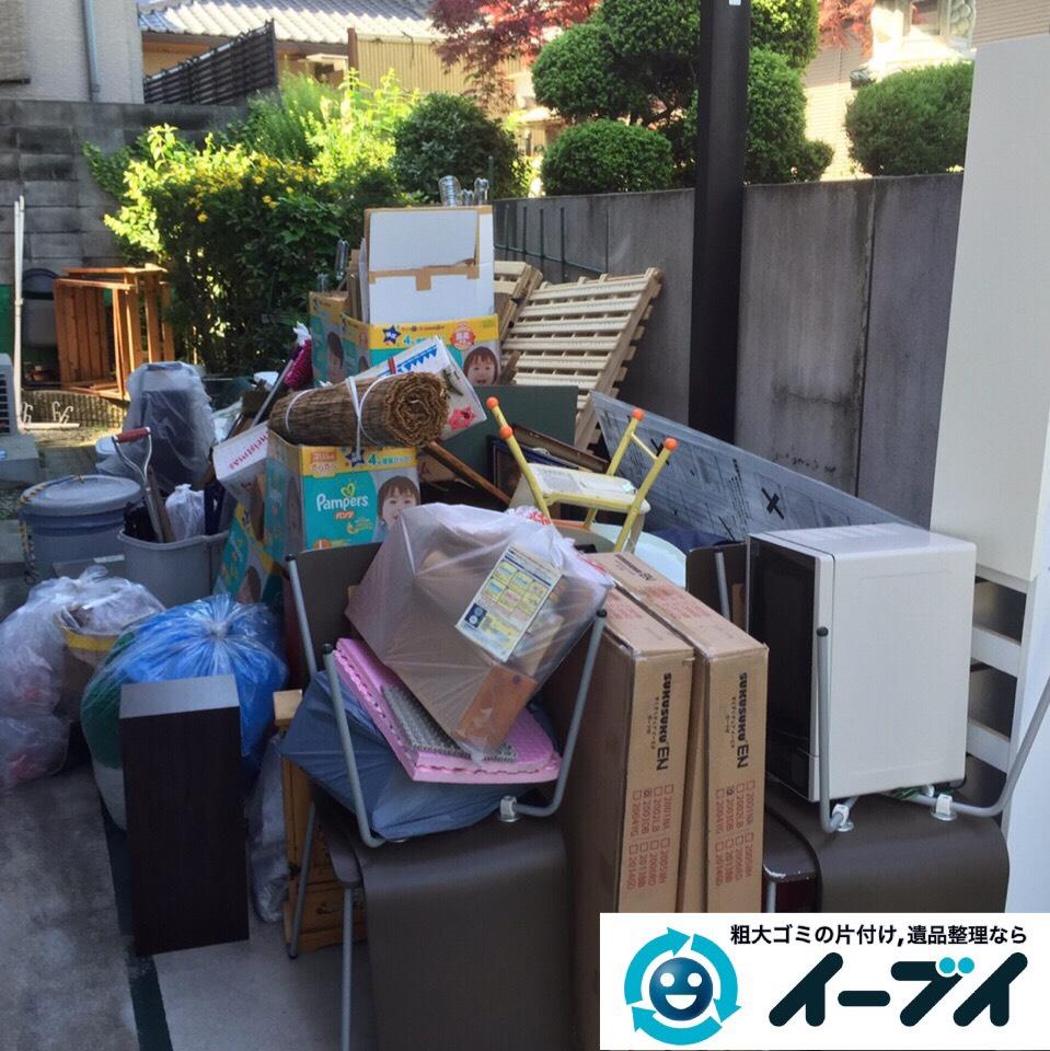 9月1日 大阪府交野市でガレージの粗大ゴミや廃品の不用品回収をしました。写真1
