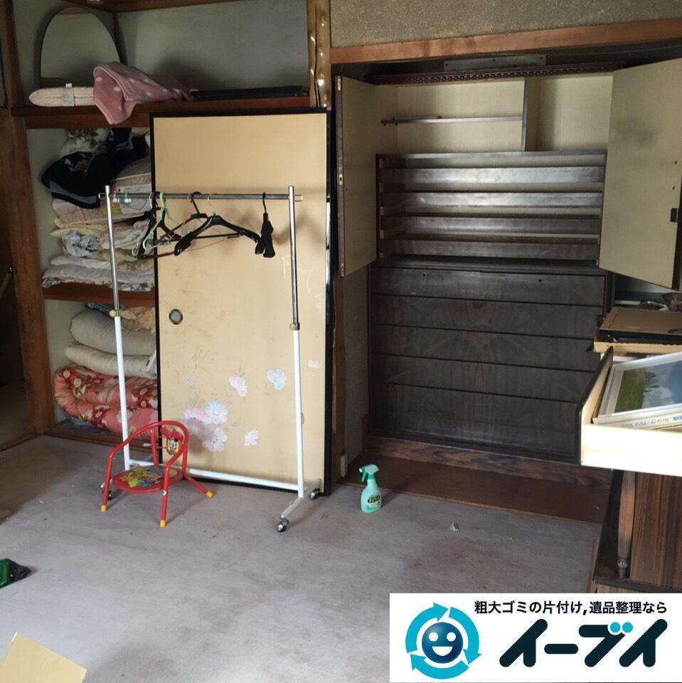 9月2日 大阪府高槻市で実家の片付けで家具や押し入れの布団など不用品回収しました。写真4