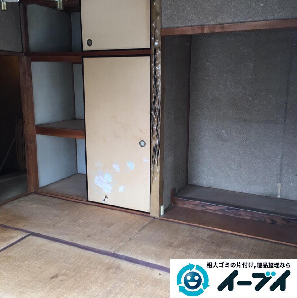 9月2日 大阪府高槻市で実家の片付けで家具や押し入れの布団など不用品回収しました。写真3