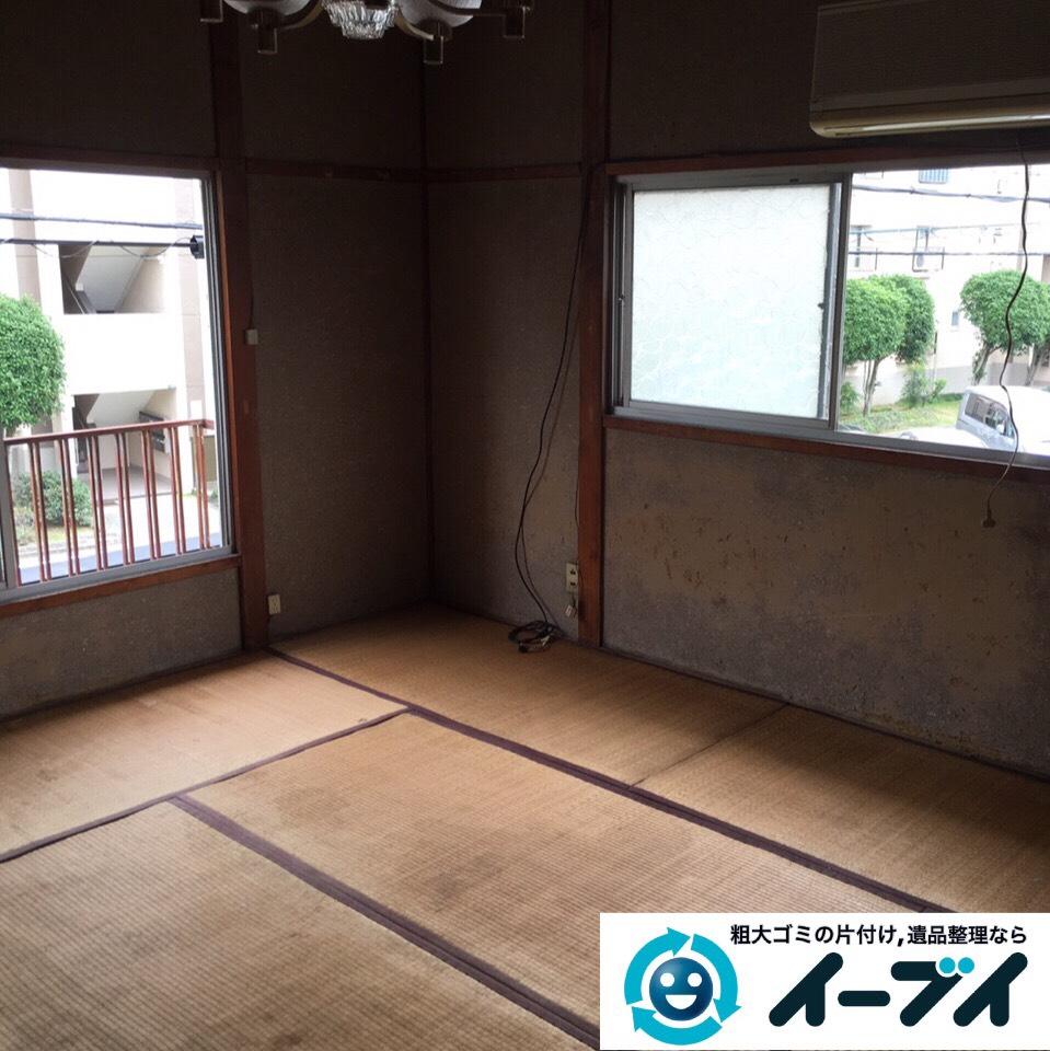 9月2日 大阪府高槻市で実家の片付けで家具や押し入れの布団など不用品回収しました。写真1