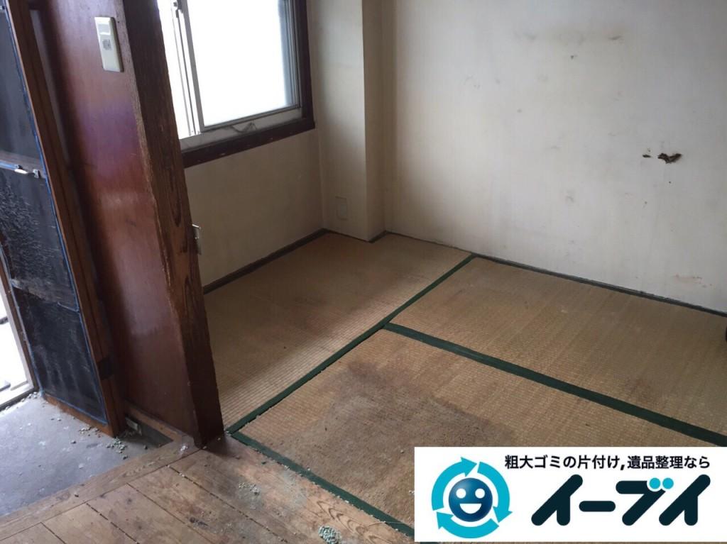 9月2日 大阪府堺市堺区で汚部屋状態のゴミ屋敷の片付けをしました。写真3