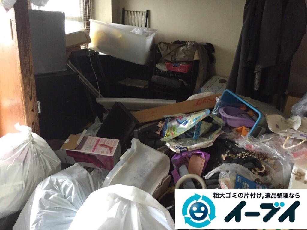 9月2日 大阪府堺市堺区で汚部屋状態のゴミ屋敷の片付けをしました。写真2