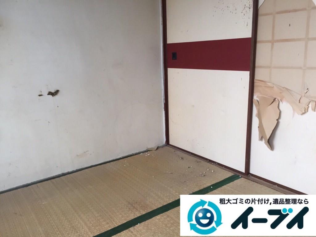 9月2日 大阪府堺市堺区で汚部屋状態のゴミ屋敷の片付けをしました。写真1