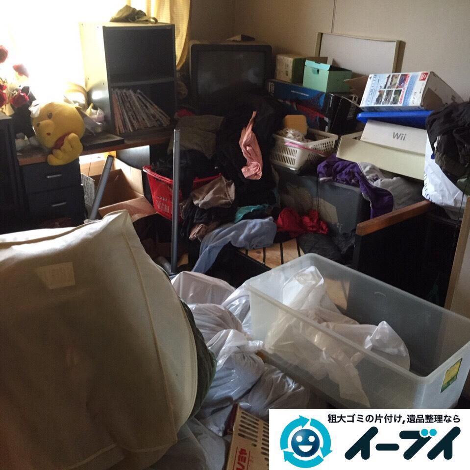 9月5日 大阪府堺市西区で引越しに伴う片付けと廃品や粗大ゴミの不用品回収。作業写真4