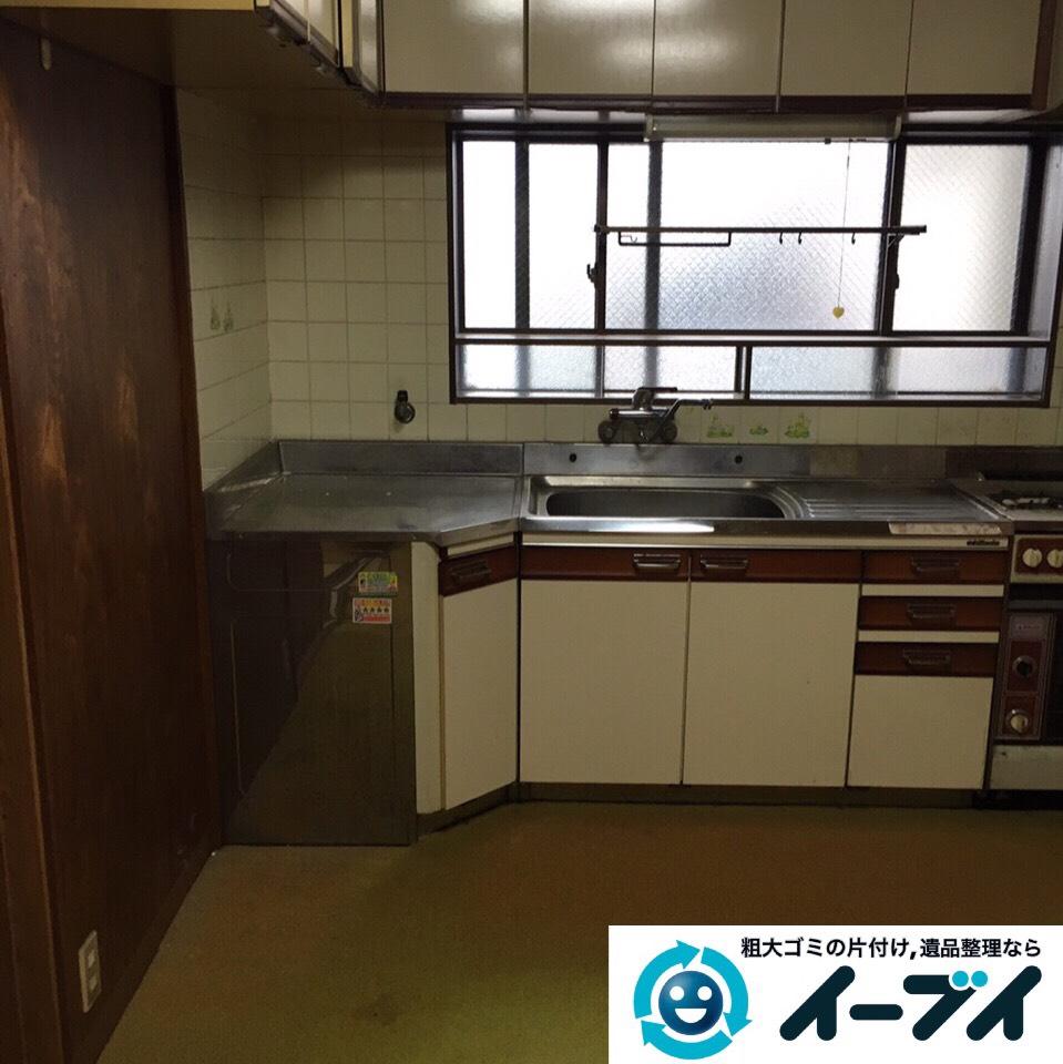 9月5日 大阪府堺市西区で引越しに伴う片付けと廃品や粗大ゴミの不用品回収。作業写真3