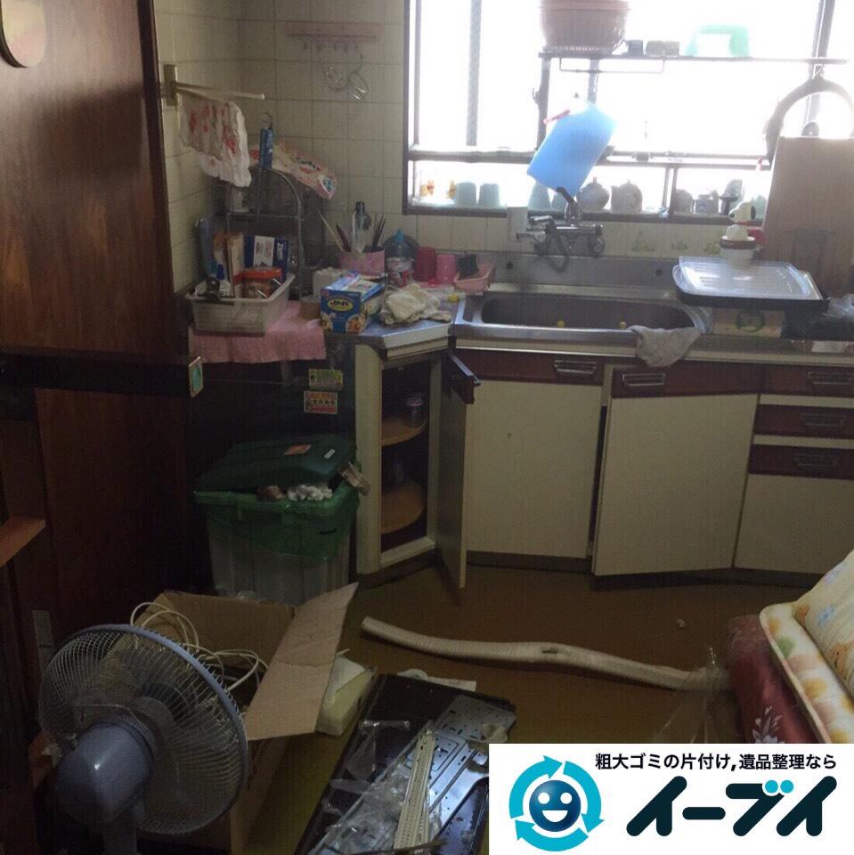 9月5日 大阪府堺市西区で引越しに伴う片付けと廃品や粗大ゴミの不用品回収。作業写真2
