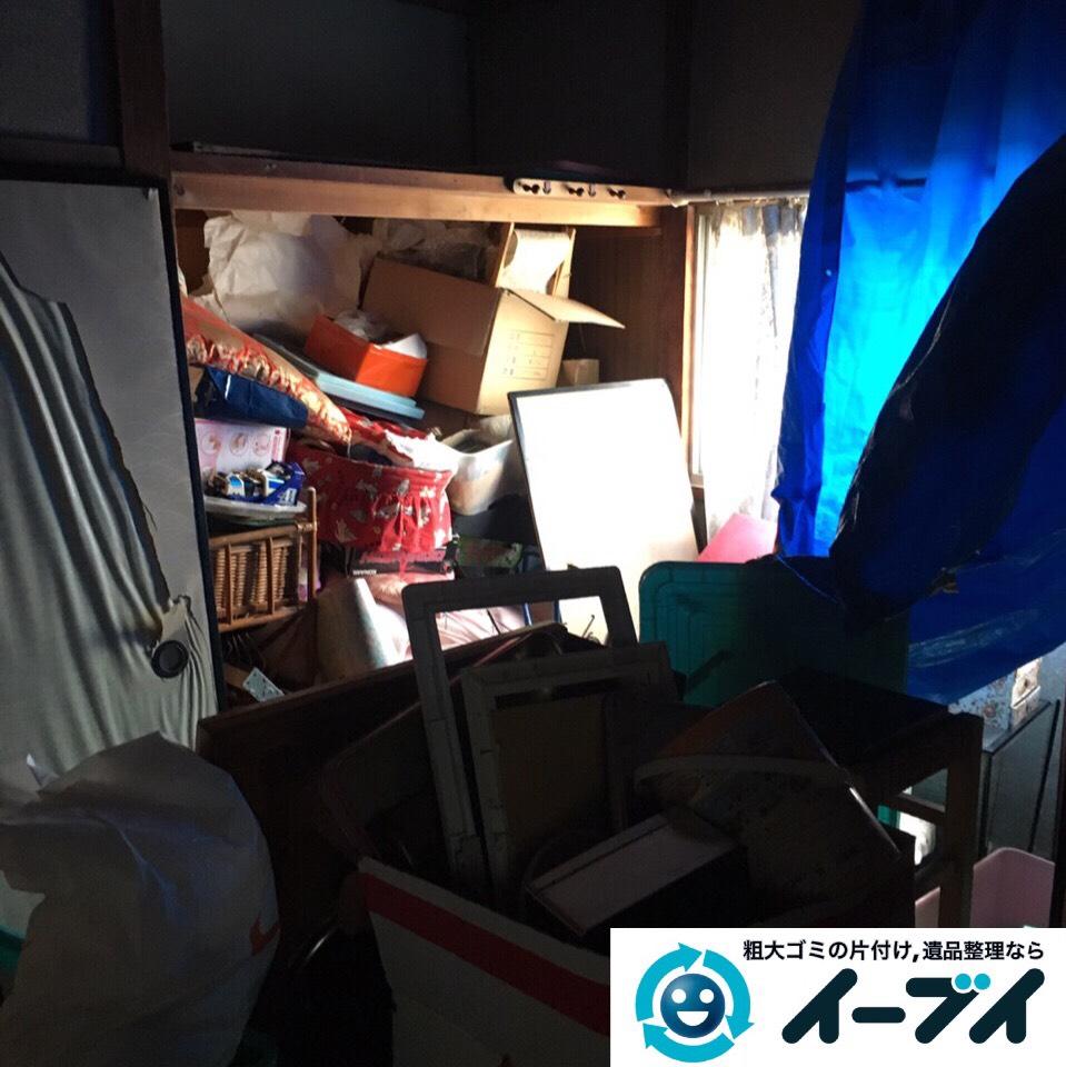 9月6日 大阪市堺市美原区で遺品整理に伴う家具や粗大ゴミの部屋の片付けをしました。写真1