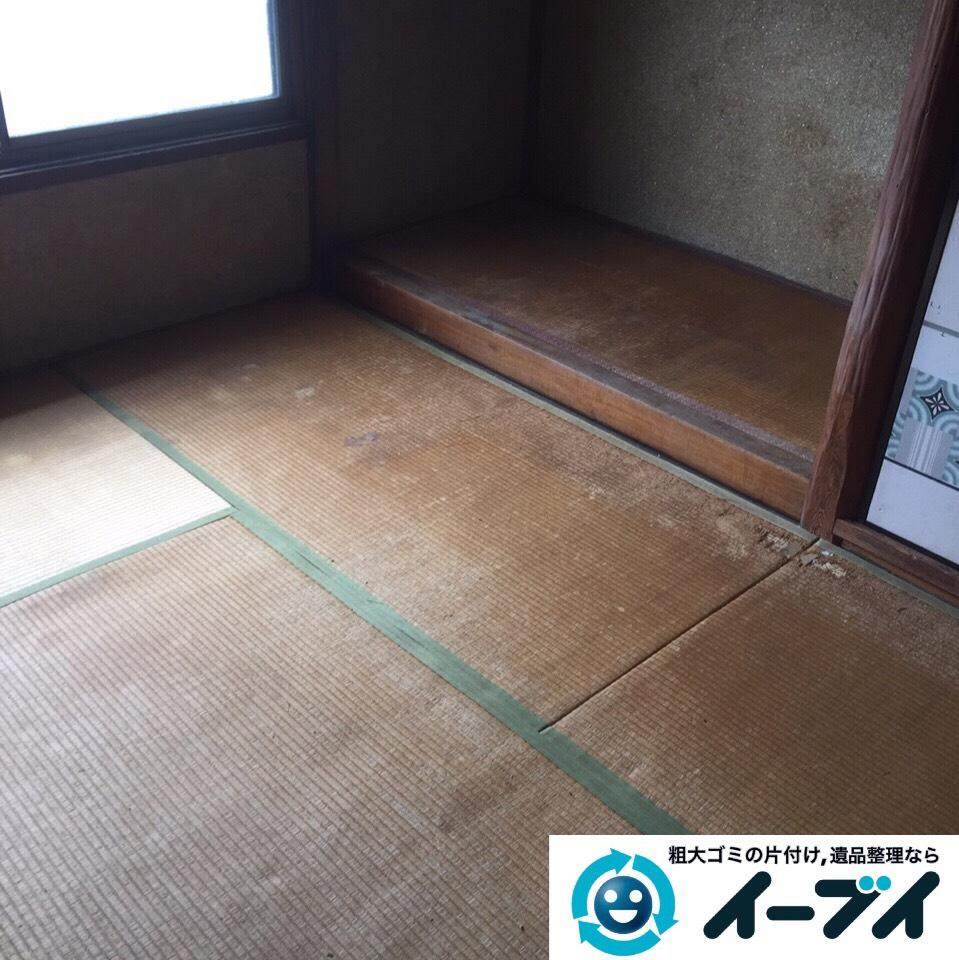 9月7日 大阪府四条畷市で遺品整理と家具や粗大ゴミの不用品回収をしました。写真1