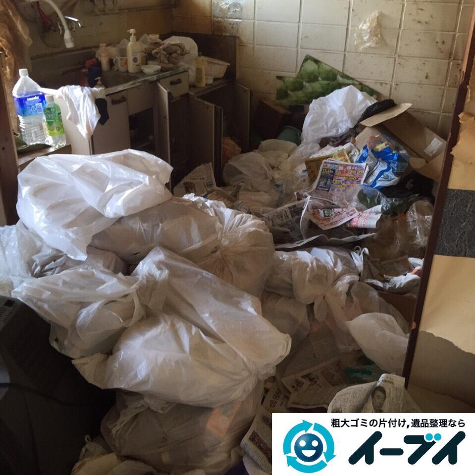 9月9日 大阪府守口市で汚部屋状態になっているゴミ屋敷の片付け作業をしました。作業写真4