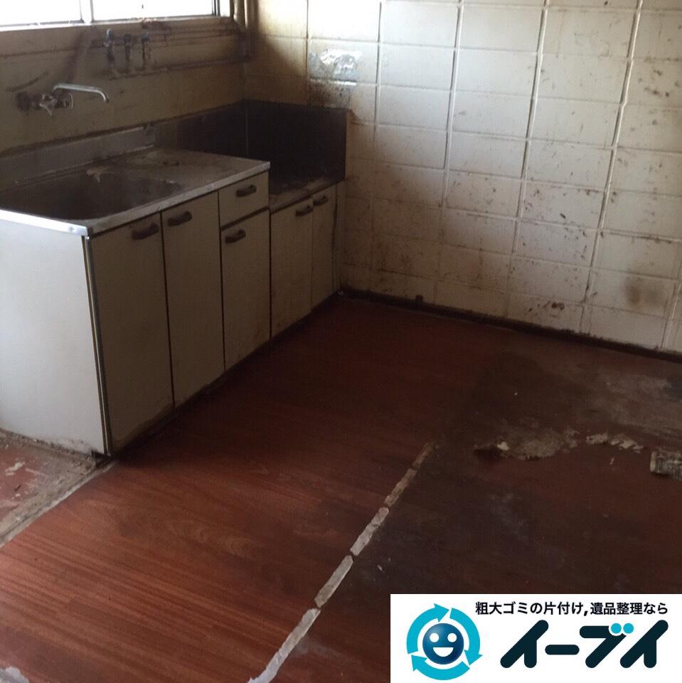 9月9日 大阪府守口市で汚部屋状態になっているゴミ屋敷の片付け作業をしました。作業写真1