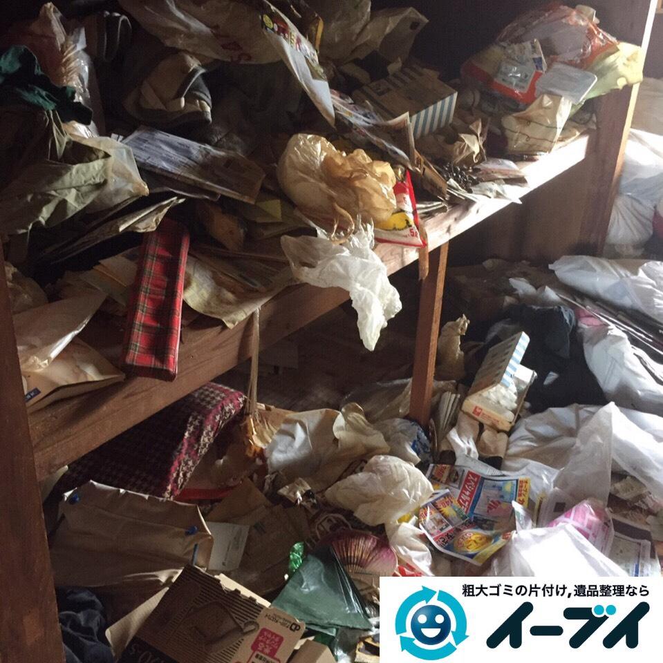 9月9日 大阪府守口市で汚部屋状態になっているゴミ屋敷の片付け作業をしました。作業写真3