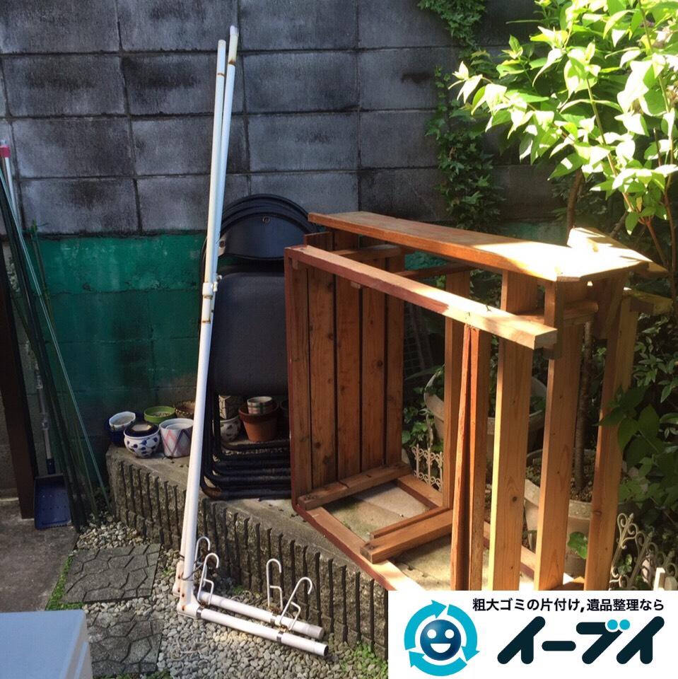 9月3日 大阪府寝屋川市で机や木製ワゴンなどの粗大ゴミの家具処分をしました。作業写真4