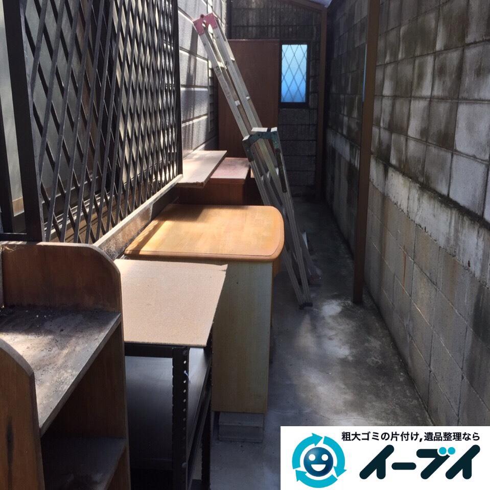 9月3日 大阪府寝屋川市で机や木製ワゴンなどの粗大ゴミの家具処分をしました。作業写真2