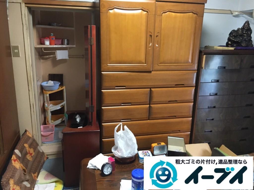 9月11日 大阪府吹田市で遺品整理に伴うタンスや生活用品の片付けをしました。写真2