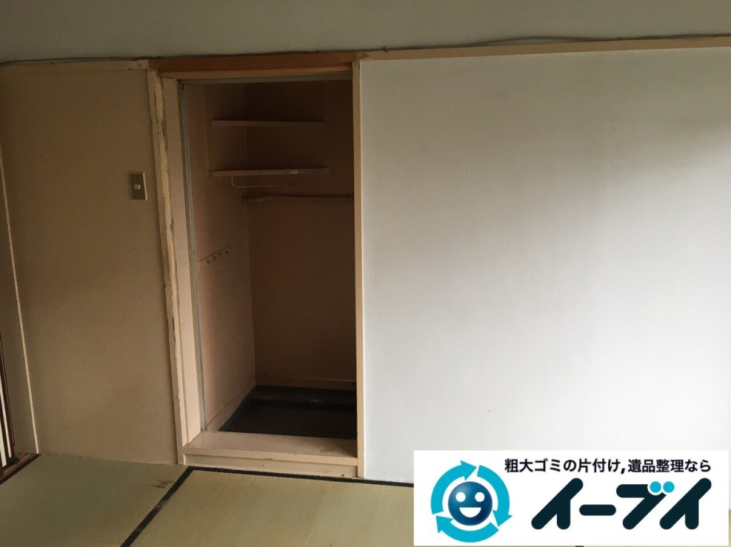 9月11日 大阪府吹田市で遺品整理に伴うタンスや生活用品の片付けをしました。写真1