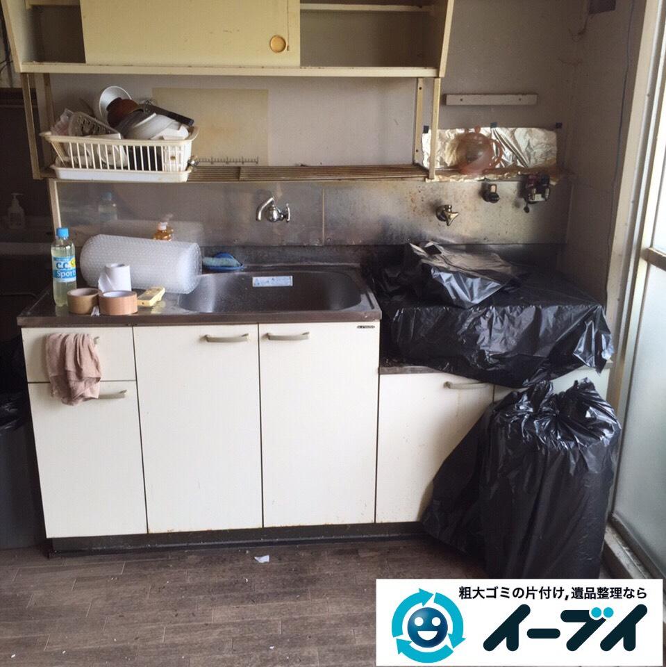 9月13日 大阪府大阪市旭区で引越し後の片付けでガスコンロや粗大ゴミの不用品回収をしました。写真4