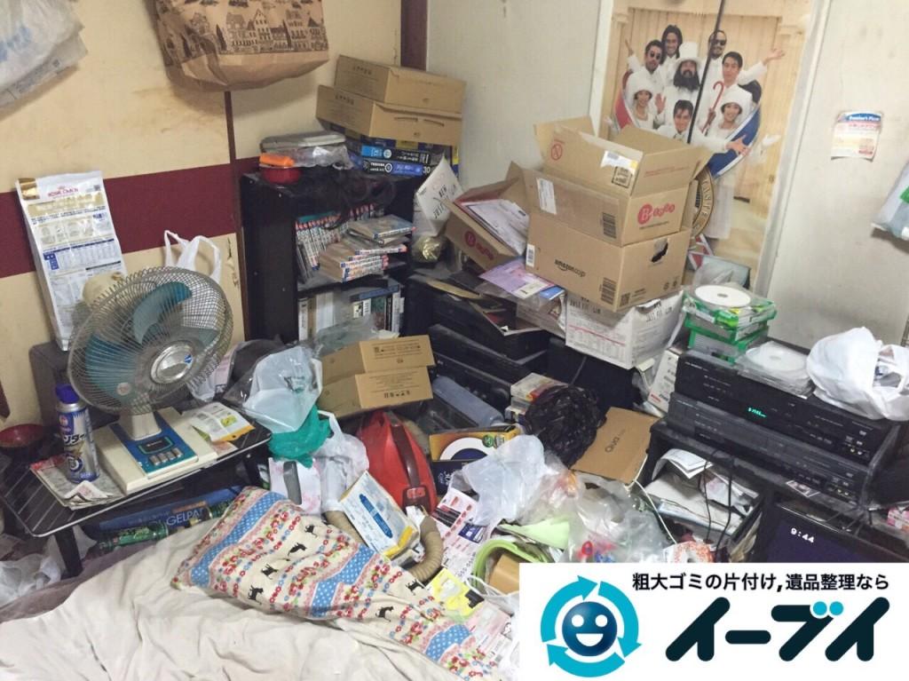 9月18日 大阪府大阪市西区で汚部屋のゴミ屋敷の片付けをしました。写真1