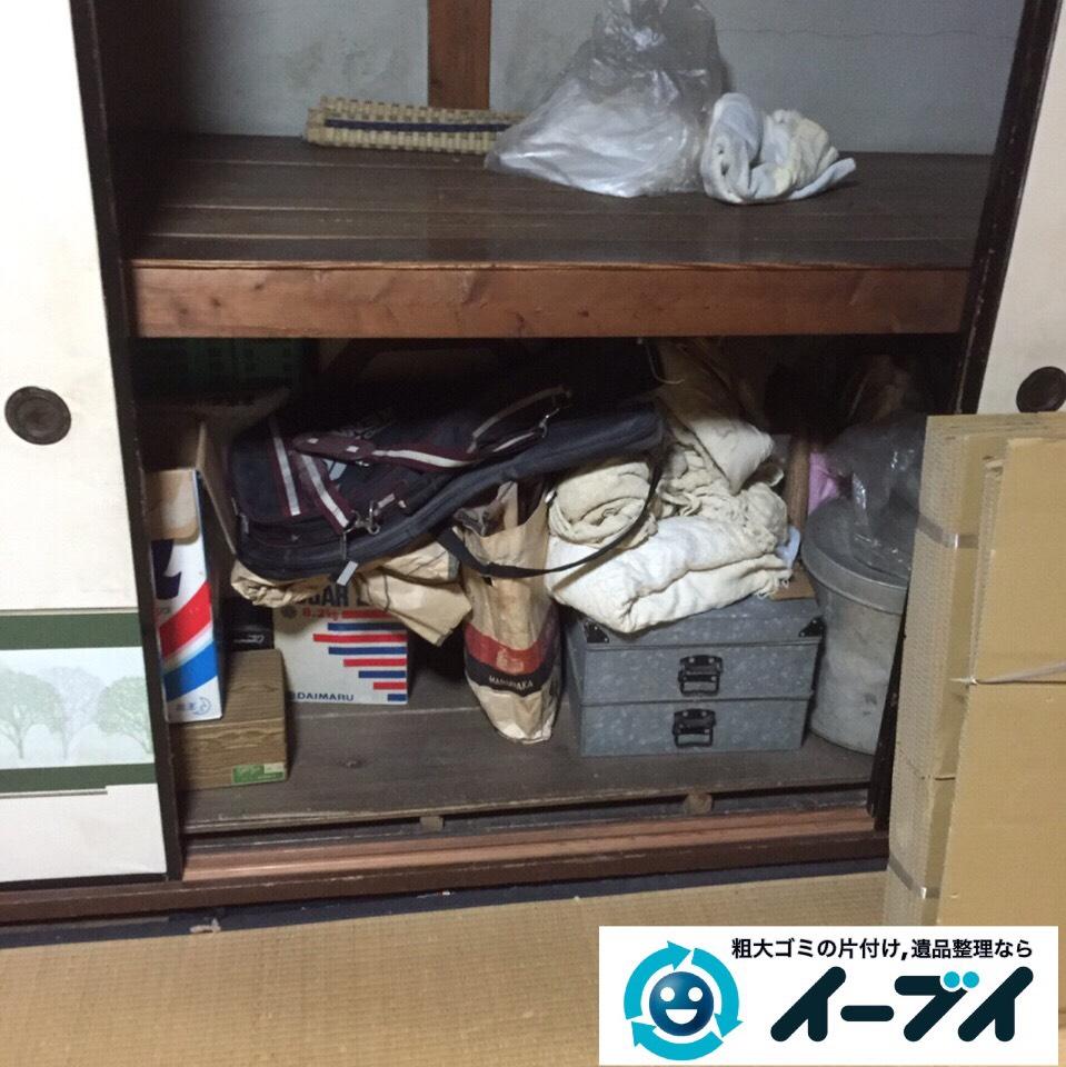9月18日 大阪府大阪市大正区で押し入れの廃品や不用品回収をしました。写真1