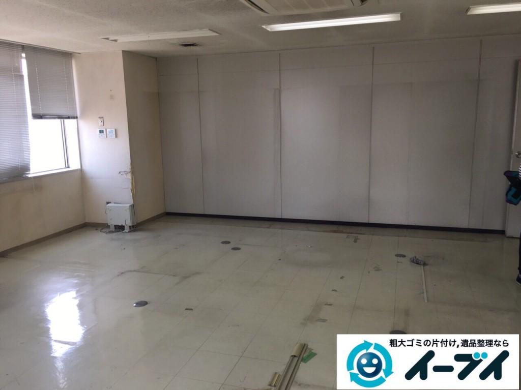 9月19日 大阪府大阪市中央区で事務所の粗大ゴミや事務机などの廃品の回収処分をしました。【前編】 写真2
