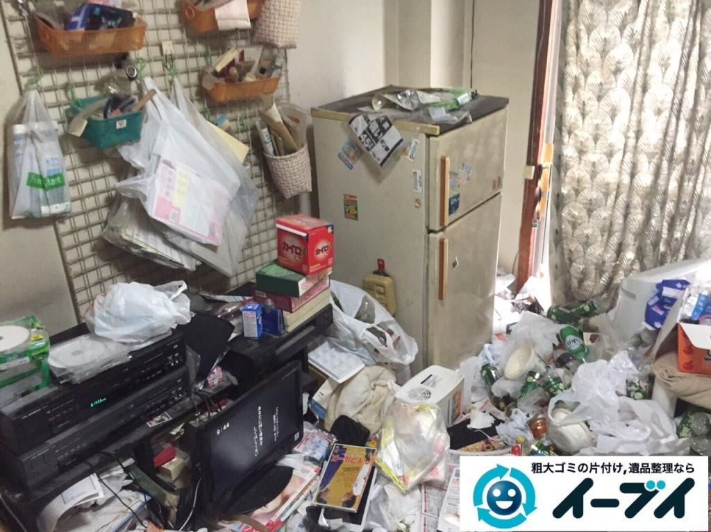 9月21日 大阪府大阪市都島区でゴミ屋敷と呼ばれる汚部屋の片付け回収作業をしました。写真1