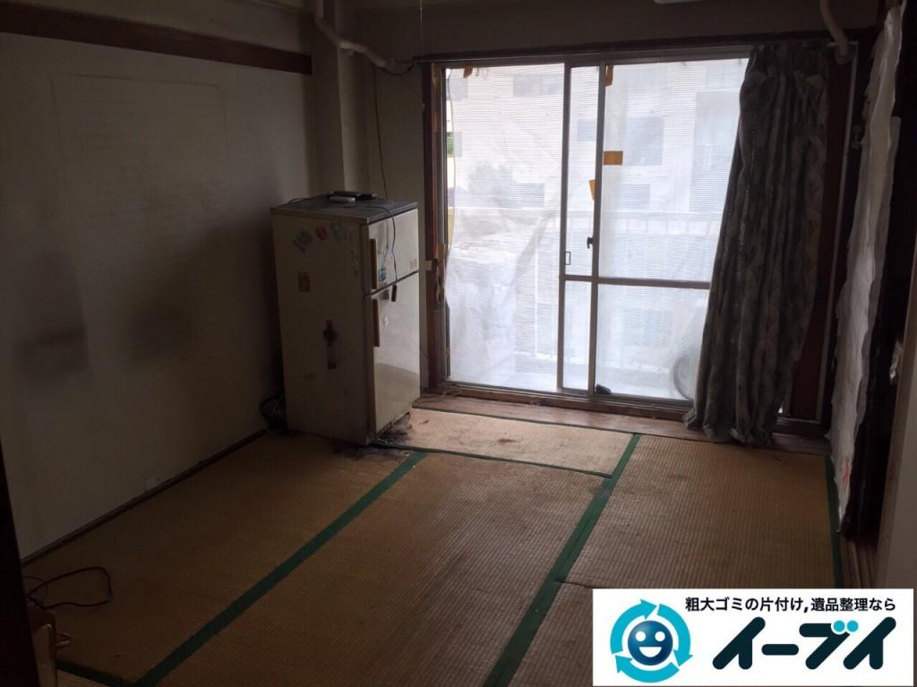 9月21日 大阪府大阪市都島区でゴミ屋敷と呼ばれる汚部屋の片付け回収作業をしました。写真2