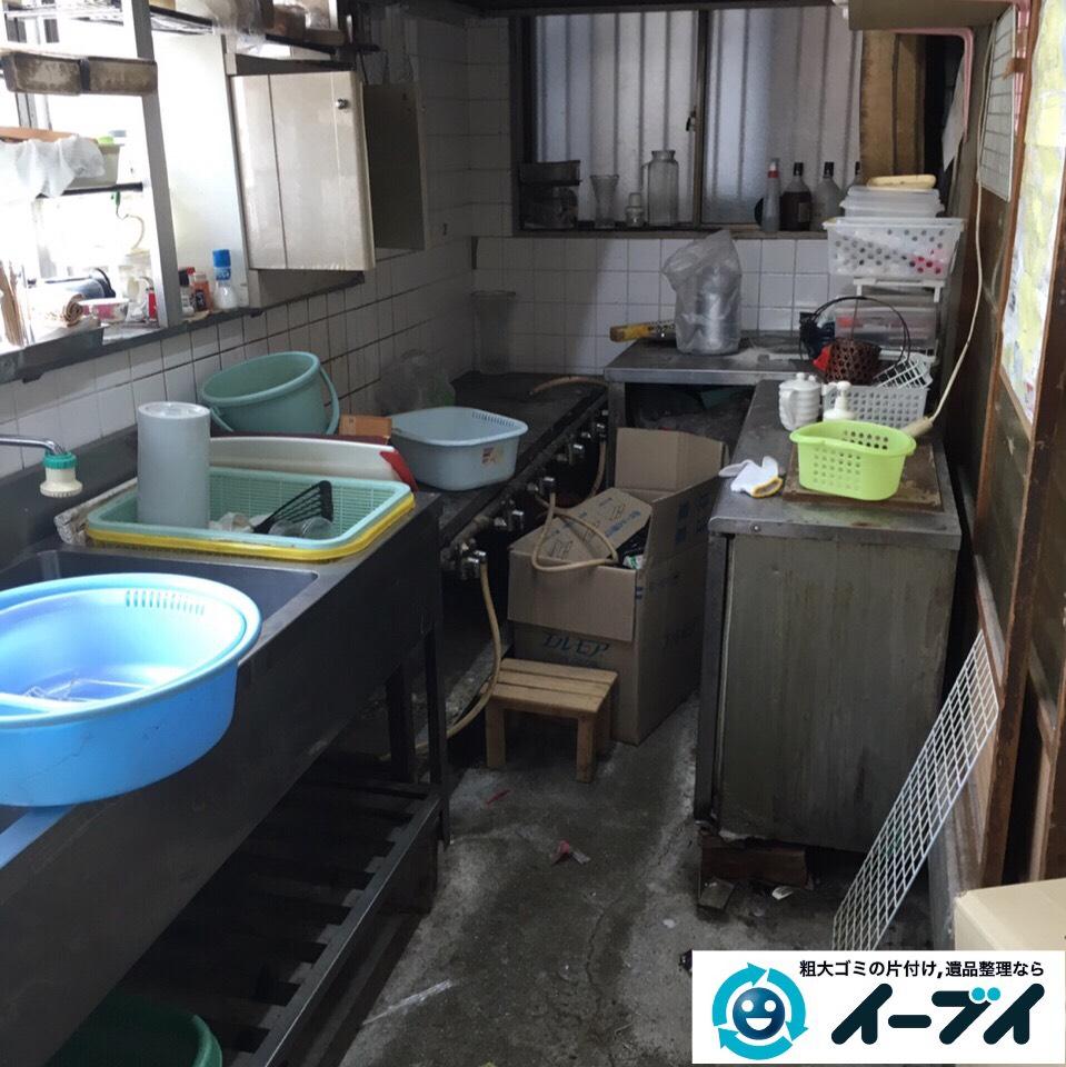 9月25日 大阪府大阪市淀川区で店舗の厨房機器などの片付け回収処分をしました。1
