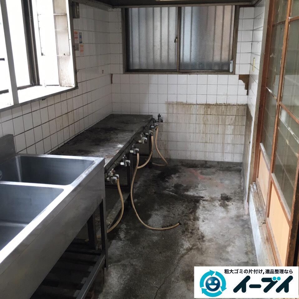 9月25日 大阪府大阪市淀川区で店舗の厨房機器などの片付け回収処分をしました。2