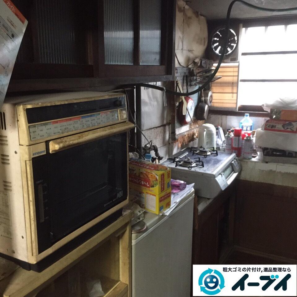 9月25日 大阪府大阪市浪速区で冷蔵庫やキッチン周りの不用品回収をしました。  写真1