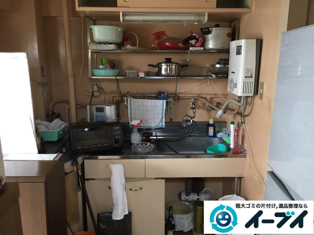 9月28日 大阪府池田市で遺品整理に伴う家具処分や粗大ゴミの片付けをしました。写真1
