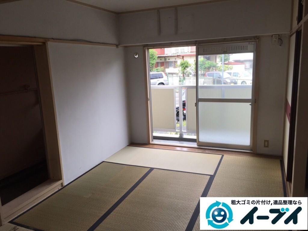 9月28日 大阪府池田市で遺品整理に伴う家具処分や粗大ゴミの片付けをしました。写真4