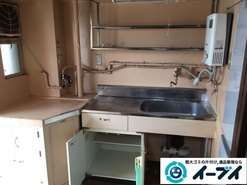 9月28日 大阪府池田市で遺品整理に伴う家具処分や粗大ゴミの片付けをしました。写真2