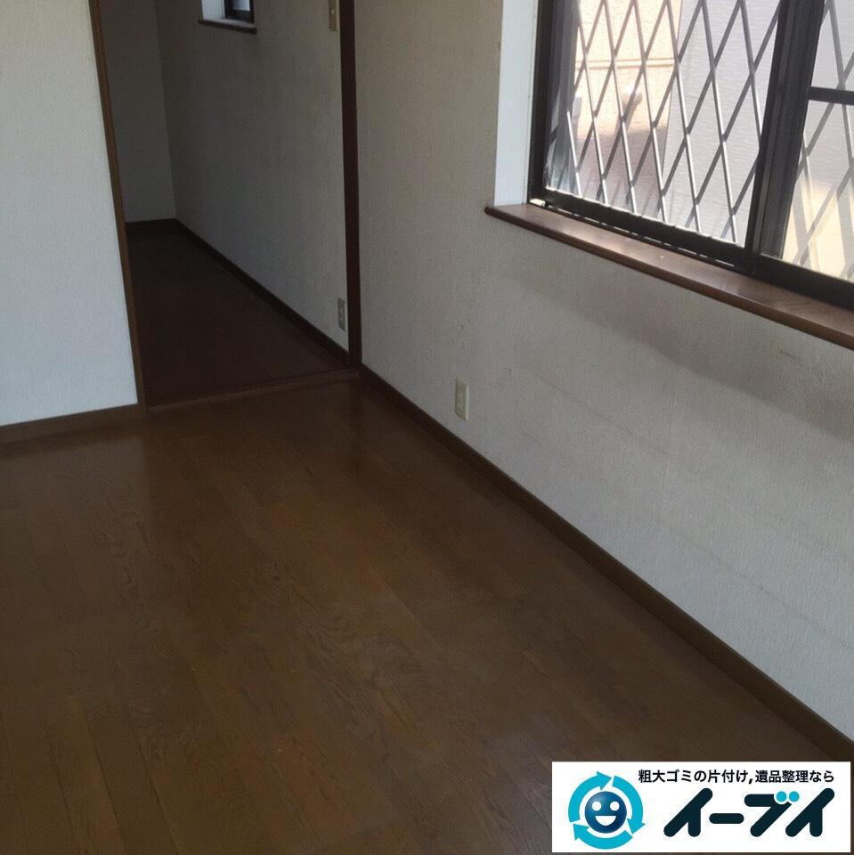 10月2日 大阪府枚方市で遺品整理による生活用品や婚礼家具など丸ごと片付けました。写真1