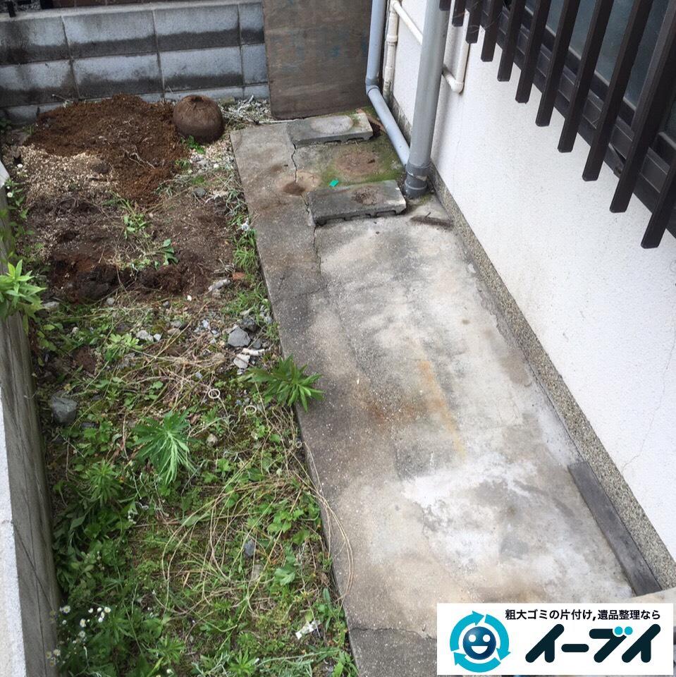 10月1日 大阪府箕面市で庭の自転車や植木鉢など粗大ゴミの不用品回収をしました。写真1