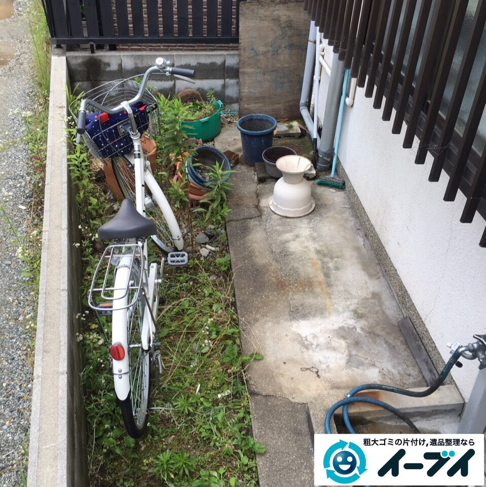 10月1日 大阪府箕面市で庭の自転車や植木鉢など粗大ゴミの不用品回収をしました。写真2