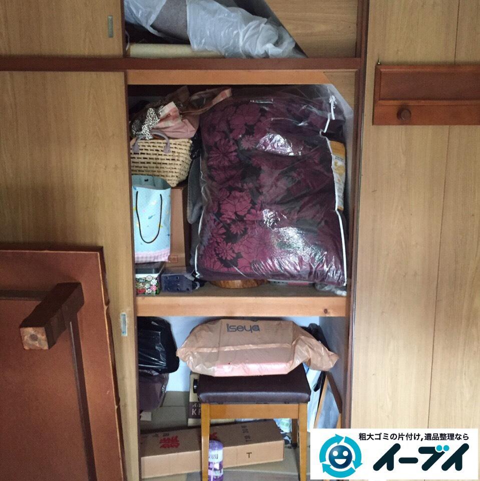 10月1日 大阪府門真市で片付けに伴う押し入れの中の粗大ゴミの不用品回収をしました。1