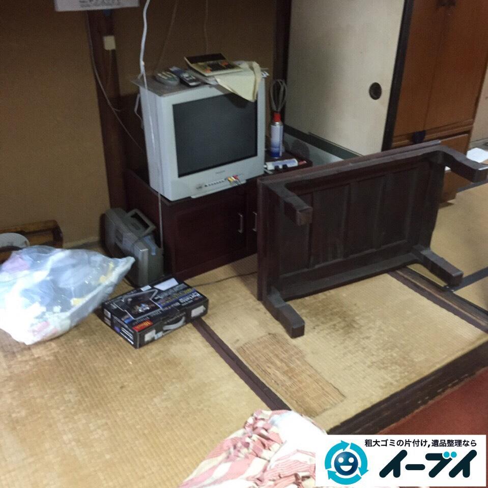 9月10日 大阪府和泉市で遺品整理に伴う家具や粗大ゴミの不用品や廃品の片付け作業。作業写真4