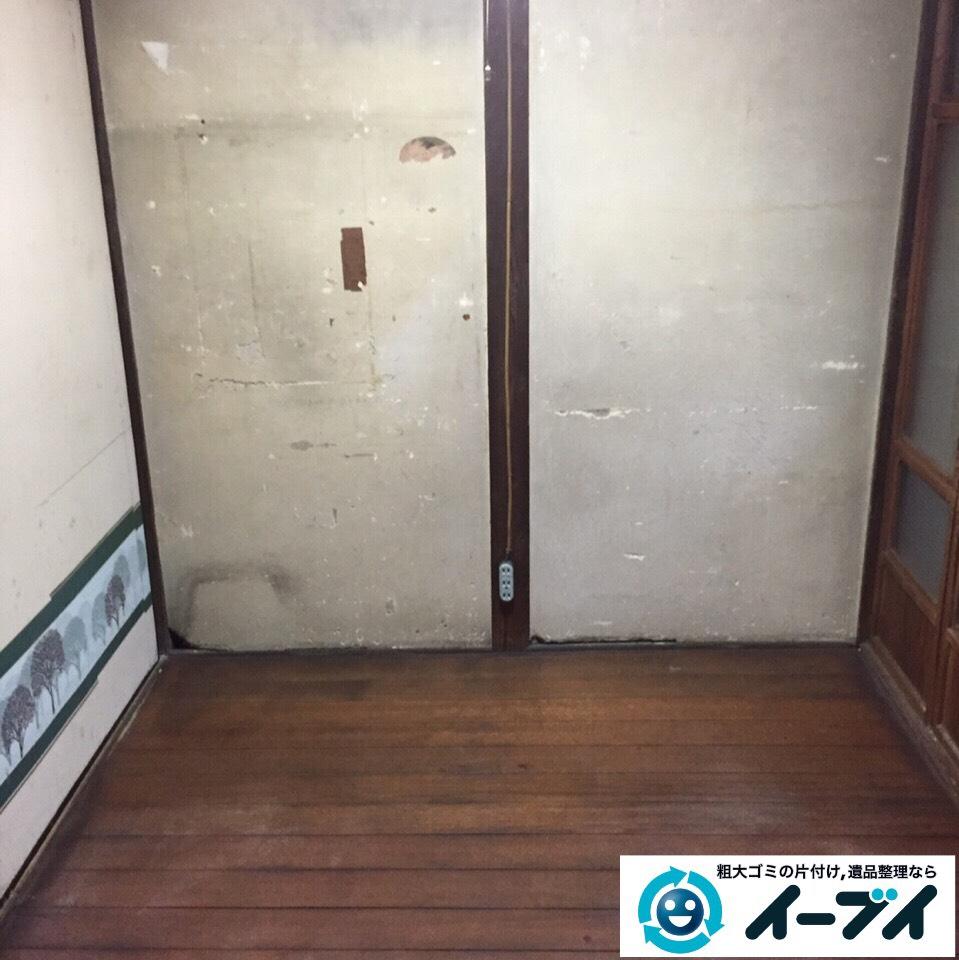 9月10日 大阪府和泉市で遺品整理に伴う家具や粗大ゴミの不用品や廃品の片付け作業。作業写真1