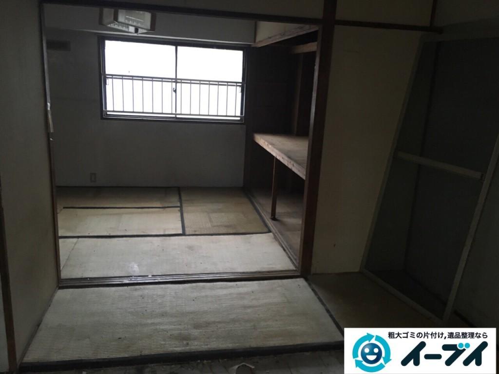 9月28日 大阪府大東市でゴミ屋敷の一室の汚部屋の片付けをしました。写真1