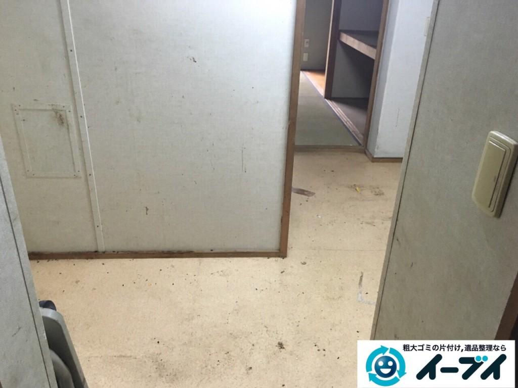 9月11日 大阪府泉佐野市でゴミ屋敷の片付けをイーブイにご依頼くださいました。作業写真1
