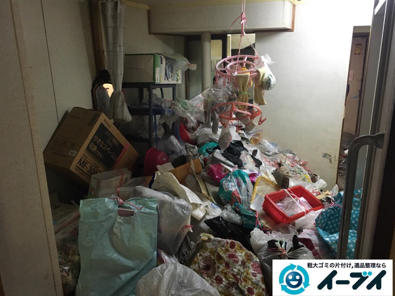9月11日 大阪府泉佐野市でゴミ屋敷の片付けをイーブイにご依頼くださいました。作業写真4