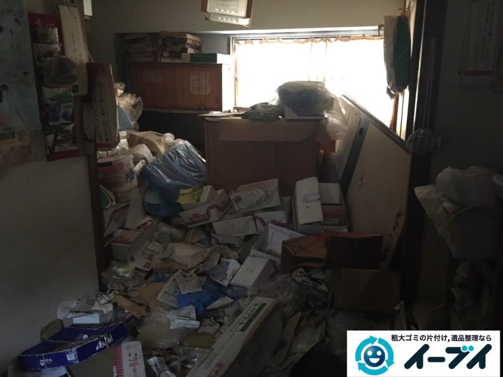 9月28日 大阪府大東市でゴミ屋敷の一室の汚部屋の片付けをしました。写真3