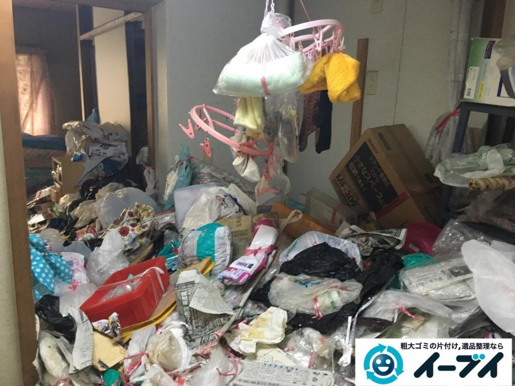 9月11日 大阪府泉佐野市でゴミ屋敷の片付けをイーブイにご依頼くださいました。作業写真5